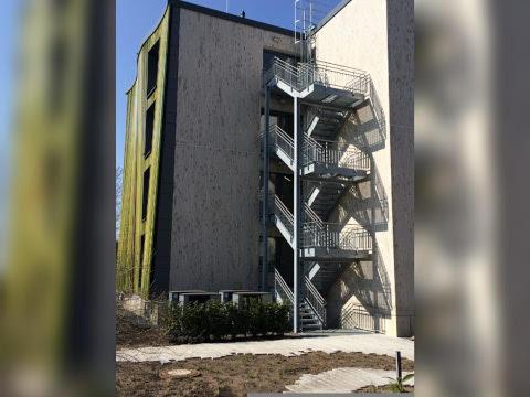 Fluchttreppe Studentenwerk Osnabrück Stahlbaukonstruktion